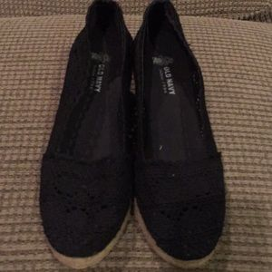 Old Navy black lace espadrilles.